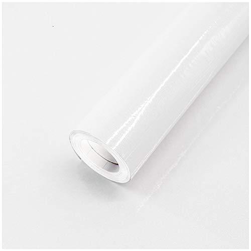 40 x 500 cm (2m²) Pegatina para Muebles Lámina autoadhesiva para cocina lámina adhesiva de PVC para armarios de cocina resistente al agua para muebles armarios lámina decorativa con purpurina(blanco)