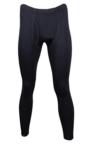 point6 Men's Merino Base Layer Mid-Weight Bottom Black