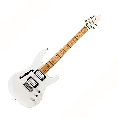 SX E-Gitarre, kurze Skala, dünne Linie, strahlend weißes Finish