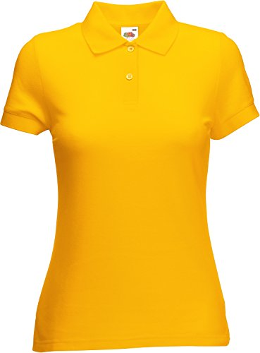 Fruit of the Loom Damen Lady-Fit Poloshirt 65/35 Sunflower XL