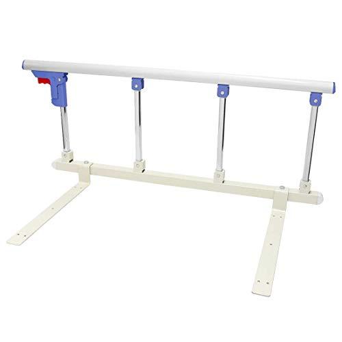 Barra de seguridad lateral para cama de aleación de aluminio con una llave plegable para niños, niños y adultos, con mango de ayuda para niños y adultos, barandicap para cama