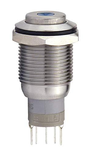 Blanko 207052 Metallschalter 16 mm mit Punktbel. Grün Schliesser, 1 x Öffner
