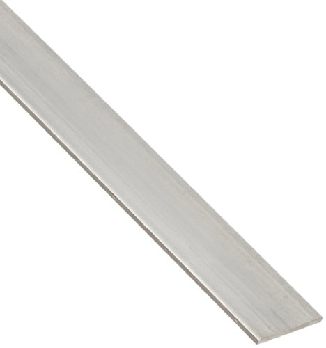 304 Stainless Steel Rectangular Bar, Unpolished (Mill) Finish, Annealed, 0 (Annealed) Temper, ASTM A276, 1/8