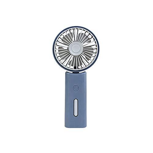 USB Oplaadbare Draagbare Mini Persoonlijke Ventilator geruisloos Handheld Opvouwbare Handvat Fans, Blauw