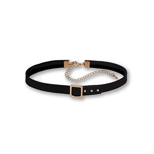 WDSFT Collar Delicado para Mujer Collar de Mujer Collar de Cadena de clavícula - Punk Rock gótico tórica de Gargantilla - Cintura Ajustable Cintura Cintura arnés Jaula de Jaula (Color : Gold)