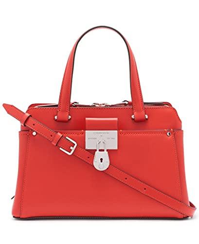 Calvin Klein Camille Organizational Daytona Satchel, Crimson