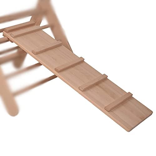 GOODEX Rutschbrett Hühnerleiter Rutschrampe Kletterrampe Rutsche für Klettergerüst Kletterdreieck Sprossendreieck nach Pikler Montessori massives Holz 100% ECO Made in Germany