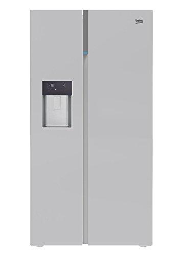 Beko GN162333ZX Side-by-Side Kühlschrank / A++ / 179 cm / 368 L Kühlteil / 176 L Gefrierteil / No Frost / Touchscreen / LED Innenbeleuchtung / Spender für Wasser, Eiswüfel und Crushed Eis