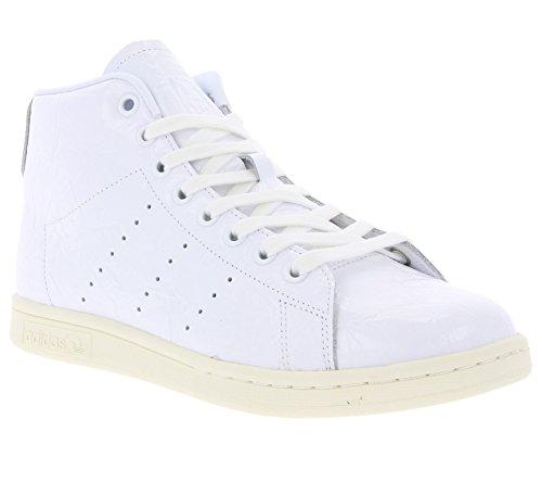 Adidas Wmn Stan Smith Mid White White Größe: 4(36 2/3) Farbe: White