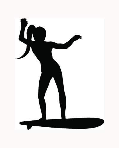 Sexy Surf Girl Sticker Surfer Wave Board Car Vinyl Window Decal Hot Ocean S2 - Die Cut Vinyl Decal for Windows, Cars, Trucks, Tool Boxes, laptops, MacBook - virtually Any Hard, Smooth Surface