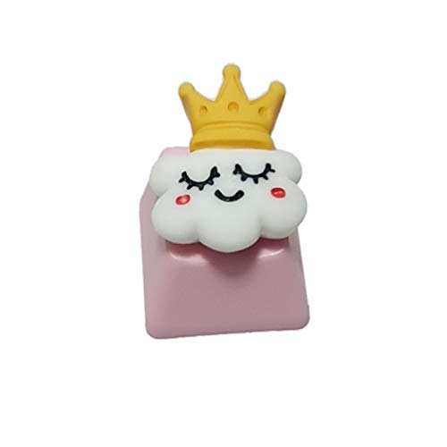 GREEN&RARE DIY PBT Keycap for Windows & Mac PC Gamers, Pink Cute Cake Ice Cream for Mechanical Keyboards, R4 Height Children's Gifts