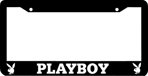 Personalized City Playboy Black License Plate Frame