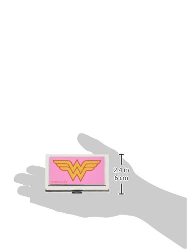Buckle-Down Business Card Holder - Wonder Woman Logo Pink - Small Photo #2