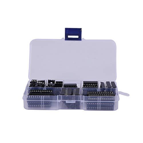 Heritan 66 unids/lote DIP IC Sockets adaptador de soldadura tipo kit 6, 8, 14, 16, 18, 20, 24, 28 pines para PCB DIY Kit