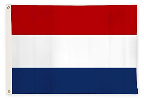 Aricona Niederlande Flagge - Niederländische Nationalflagge 90 x 150 cm mit Messing-Ösen - Wetterfeste Fahne für Fahnenmast - 100% Polyester