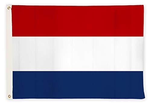 Drapeaux de l'Allemagne/Europe/États-Unis avec Double Couture et 2 œillets en Laiton - 90 x 150 cm et 60 x 90 cm (Pays-Bas, 90 x 150 cm)