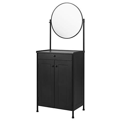 KORNSJÖ Schrank mit Spiegel 70x47x187cm schwarz