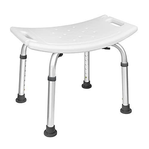 HENGMEI Aluminium Duschhocker Höhenverstellbar Duschsitz Rectangle Duschstuhl Duschhocker für Senioren Behinderte Schwangere(Type C)