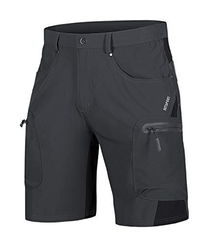 TACVASEN Mountain Cycle Shorts Mens Quick Dry Biking Shorts Summer Walking Shorts Lightweight Cycling Bottoms Bicycle Shorts Comfortable Bike Riding Shorts Grey