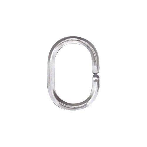 Easy-Shadow - 12 Stück Duschringe Ringe Duschvorhangringe für Vorhangstange Duschvorhangstange Haken Aufhängung für Dusche - transparent by Easy-Shadow