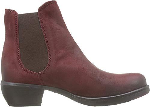 Fly London Make, Botas Chelsea para Mujer, Rojo (Red 034), 39 EU