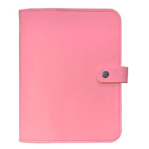 Personal Organizer, A5 Planner Binder, Wool Felt Notebook (Pink, A5 9 x 6.69'') Harphia