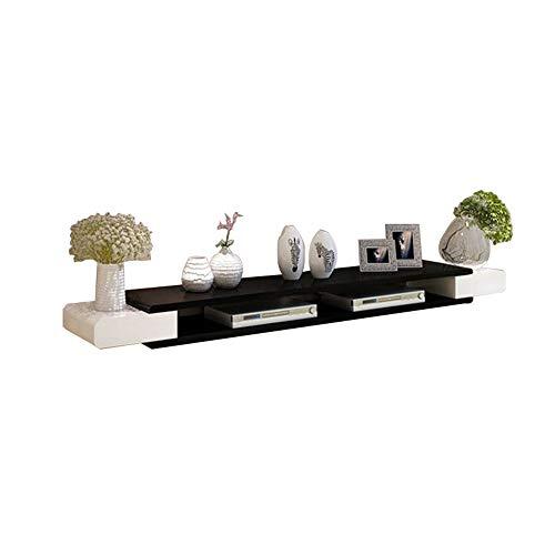 Hängeschrank Fernsehschrank, TV Lowboard Hängeboard, TV-Hängeschrank, Platz für Multimedia-Player, Router, die im Wohnzimmer, Schlafzimmer usw. verwendet werden. / B / 110×24×13cm