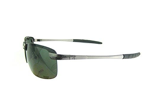 Broadfashion Herren Polarisationsbrille im Freien Sportbrille Angelbrille Sonnenbrille polarisierende Brille (Grün)