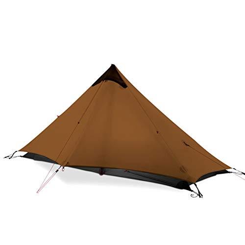 Yamyannie Tiendas de Campaña 1 Persona al Aire Libre Ultraligero Camping Tienda 3 Temporada Tienda sin Cama para Camping y Senderismo (Color : Khaki, Size : 210x95cm)