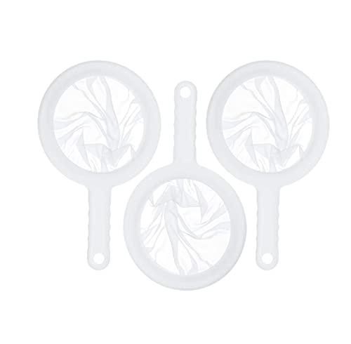 Ncheli 3 pcs setaccio Set,Setacci a Maglia fine Filtro Compatibile Filtro Alimentare Cucina colino a Maglia Filtro per alimenti per Imbuto da Cucina, per filtrare succhi, Vino, Latte
