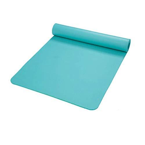 mengzhong NBR tappetino yoga 10 mm ispessito allargato ed esteso tappetini antiscivolo per sport insapore, Verde