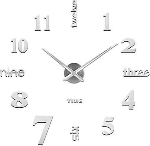 VanseRun Mute Reloj Pared 3D Números Adhesivos DIY
