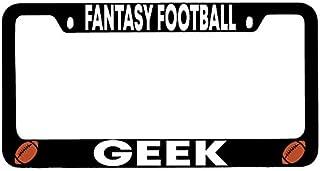 Dots Gifts Fantasy Football Geek Black Metal License Plate Frame DG