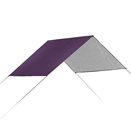 Heqianqian Toldo de vela 210 x 200 cm, 210D Anit-UV tienda parasol hamaca refugio camping cojín toldo