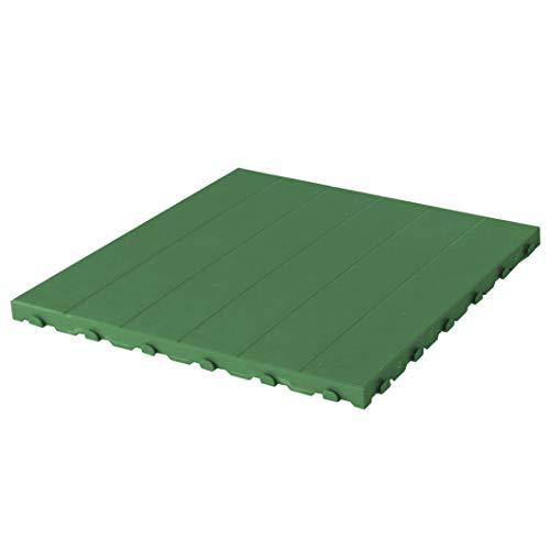 Piastrella in Plastica da Esterno e Giardino 60 x 60 cm Piena. Confezione da 4 pezzi equivalente a 1,5 m2. colore verde