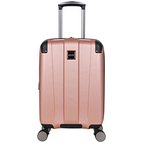 Kenneth Cole Reaction Continuum 20' Carry-On Lightweight Hardside Expandable 8-Wheel Spinner Cabin Bag Travel Suitcase, Rose Gold