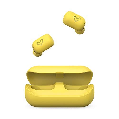 Auriculares inalámbricos amarillos