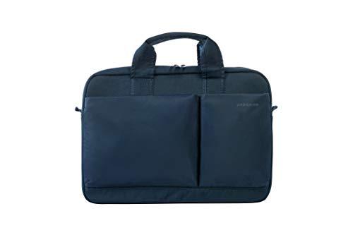 """Tucano-Borsa Slim per Laptop fino a 15.6"""" Pollici e MacBook Pro 15"""" Retina. City Bag da Ufficio e Università. Uomo e Donna. Portadocumenti, Resistente. Tasche per iPhone e iPad. Tracolla in Dotazione"""