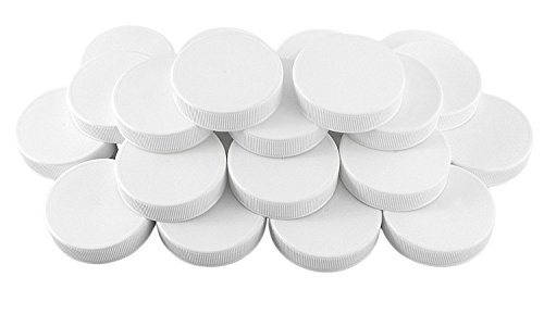White Plastic Standard Mason Jar Lids (24-Pack); Regular Mouth Lined Storage Caps