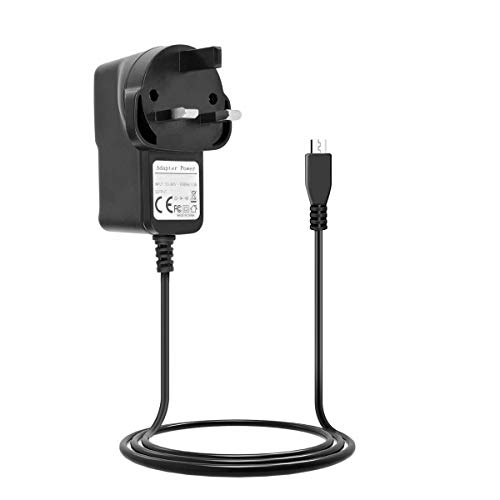 Taelec-Tric) 5V 3A Micro USB AC Adapter DC Wall Power Supply Charger Cord for Raspberry Pi 3