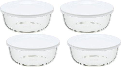 iwaki(イワキ) 耐熱ガラス 保存容器 M 800ml ×4個セット パックぼうる KBC4150-W1