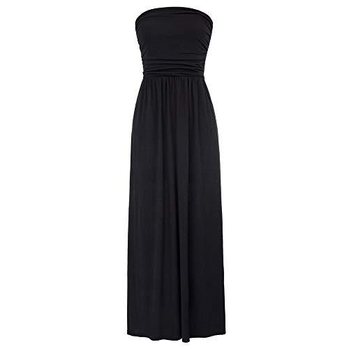 Strand Kleid Damen cocktailkleid Lange ärmellos a Linie Kleid Sommer Kleid elegant Kleider CL224-1 L