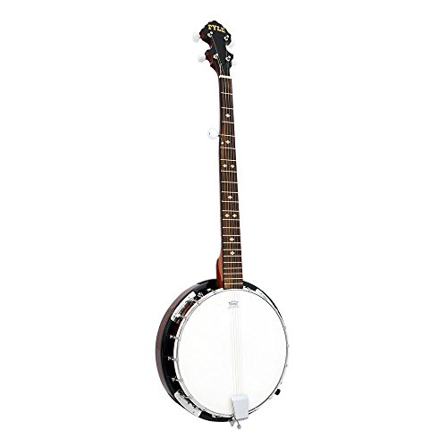 5-String Geared Tunable Banjo with White Jade Tune Pegs & Rosewood Fretboard Polished Rich Wood Finish Maplewood Bridge Stand & Truss Rod Adjustment...