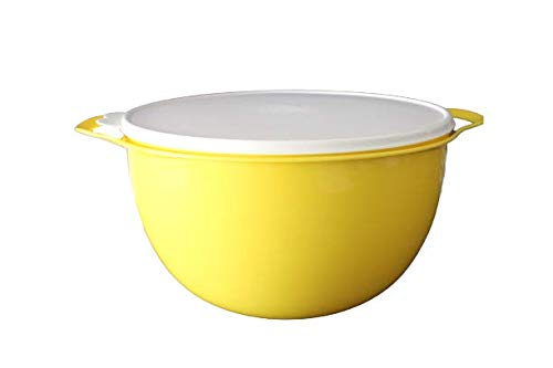 NewTupperware Mega Thatsa Mixing Bowl 42 Cup Yellow with White Seal