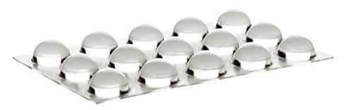 Home Xpert 15 Stück Schutzpuffer CLEAR Linse, Anschlagpuffer, Möbelpuffer, Anschlagdämpfer, transparent, selbstklebend, Ø 16,0 mm, Höhe: 7,9 mm