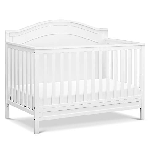 DaVinci Charlie 4-in-1 Convertible Crib in White | Greenguard Gold Certified