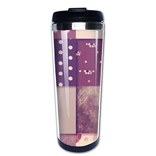 Taza de café de Acero Inoxidable Taza de café Reutilizable Adecuada para Viajes y Trabajo al Aire Libre Taza Tazas,Patrón