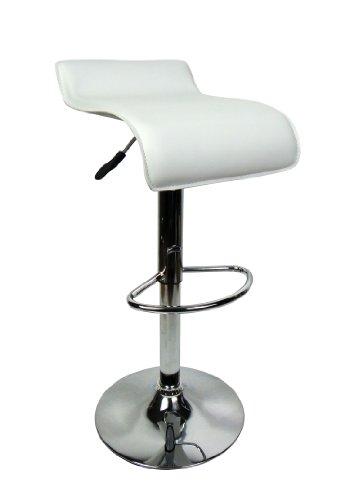 Tabouret de bar design pivotant design intemporel M6 Blanc