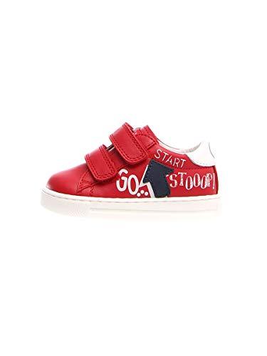 Falcotto MERVI VL-Sneaker mit Aufdruck und Patch-Navy-Weiß, Rot - rot - Größe: 25 EU