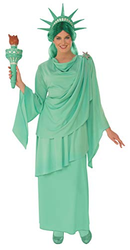 Rubie's Women's Classic Lady Liberty Costume, Green, Medium